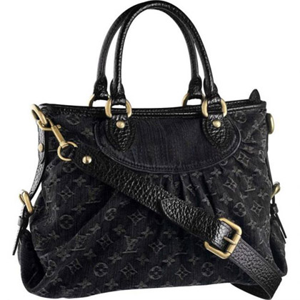 Louis Vuitton Monogram Denim Neo Cabby Noir Black Purse
