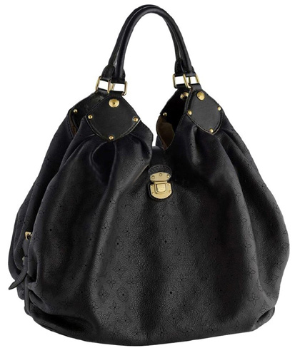 Louis Vuitton Mahina Leather Noir Black Shoulder Bag