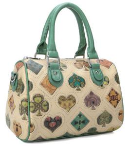 Black & Gold Color Vintage Designer Handbag