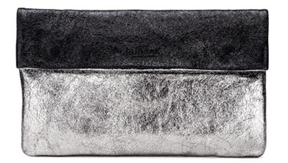Black & Silver Soft Looking Party Handbag