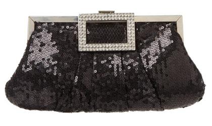 Luxury Aluminum Sequins Designer Party Clutch Handbag