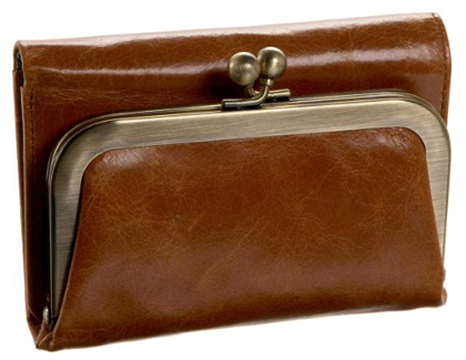 Brown Leather Finish Small Clutch Evening Bag