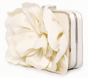 Cream Color Flower Party-Wedding Handbag