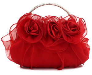 Stunning Red Bridal Favorite Flower Party Bag by Clutch