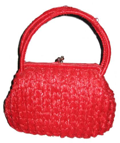 Dark Pink Charming Antique Vintage Handbag