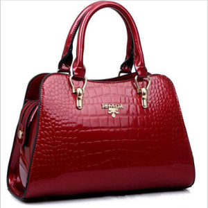 Trendy Fashion Bolsas Patent Leather Handbag