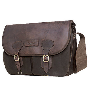 Attractive Barbour Waxed Cotton Leather Bag