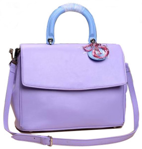 Dior Cruise Lavender with Top-Handle Leather Bag