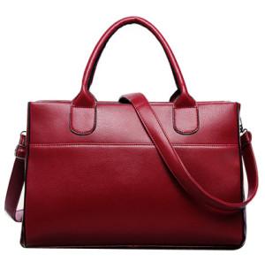 Nice Looking Genuine-Leather Tote Shoulder Bag