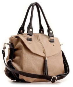 Gorgeous Multi Color Trendy Tassel Leather Shoulder Bag