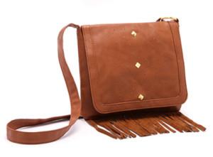 Fashion Designer Retro Tassel Female Leather Shoulder Bag