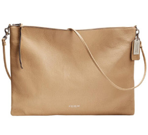 Off White Convertible Leather Handbag by Bleecker